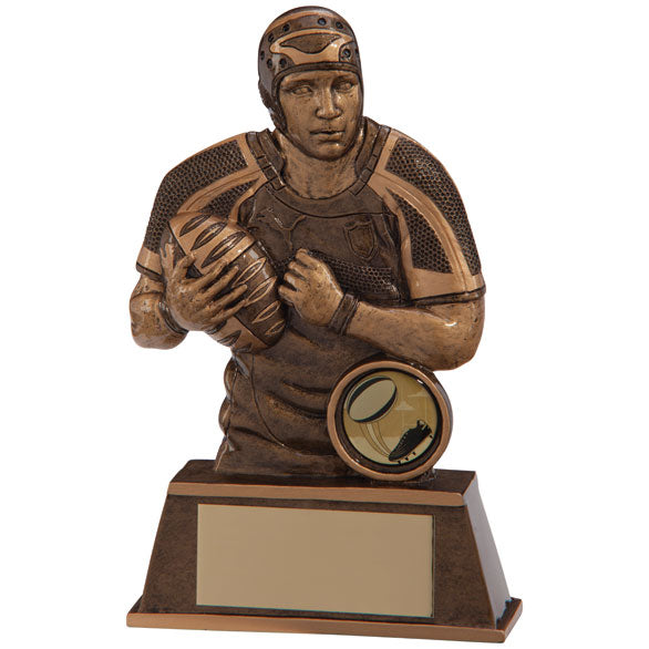 Personalised Engraved Protector Rugby Player Trophy 2 Sizes Available Free Engraving