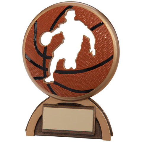 Personalised Engraved Shadow Basketball Trophy 2 Sizes Available Free Engraving