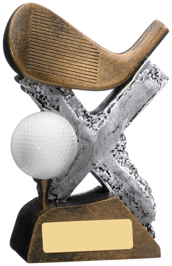 Personalised Engraved Resin Golf Trophy 2 Sizes Available Free Engraving