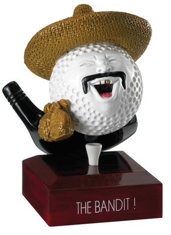 Personalised Engraved Bandit Golf Trophy Free Engraving