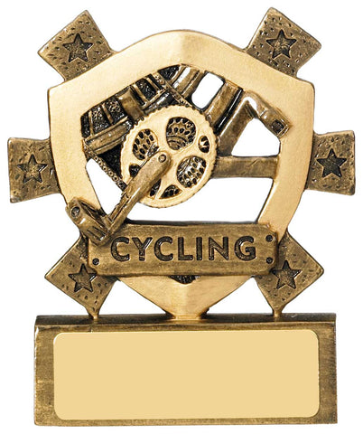 Personalised Engraved Resin Mini Star Cycling Trophy Free Engraving