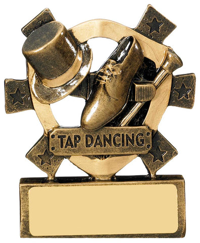 Personalised Engraved Resin Mini Star Tap Dancing Trophy Free Engraving