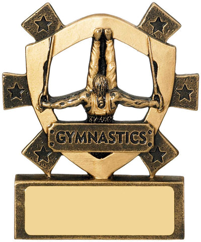Personalised Engraved Resin Mini Star Gymnastics Trophy Free Engraving