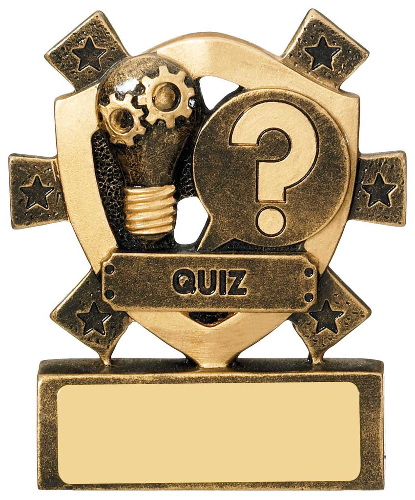 Personalised Engraved Resin Mini Star Quiz Trophy Free Engraving