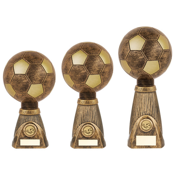 Personalised Engraved Planet Football Deluxe Football Trophy 3 Sizes Available Free Engraving