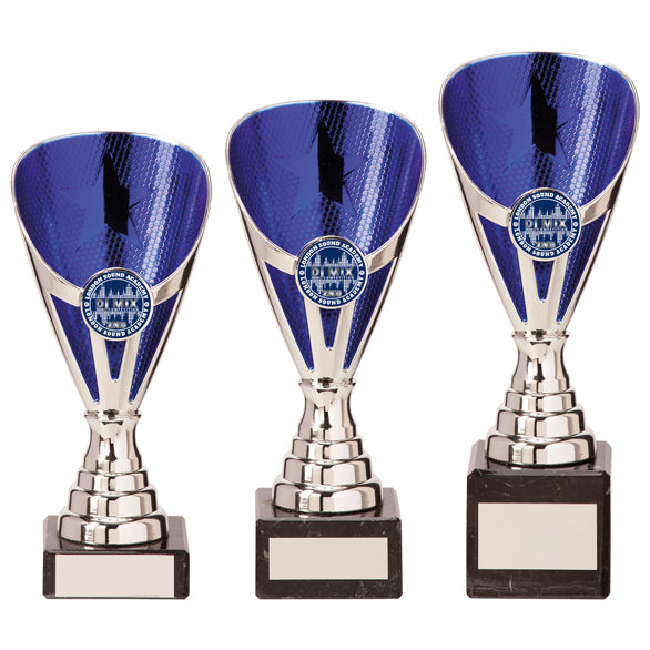 Personalised Engraved Rising Stars Any Sport/Multi Sport Marble Based Cup 3 Sizes Available Free Engraving