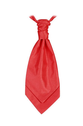 Scarlet Red  Poly Dupion Cravat - Her Tuxedo