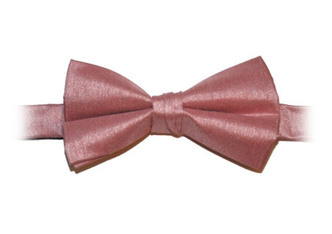 Dusky Pink Poly Dupion Bow Tie - Her Tuxedo