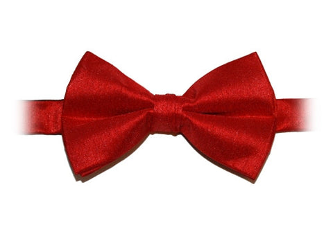 Scarlet Red Poly Dupion Bow Tie - Her Tuxedo