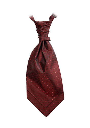 Crimson Red Polka Dot Cravat ( Matches Special Edition lining)
