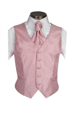 Dusky Pink Poly Dupion Waistcoat  ( Loose Fit)