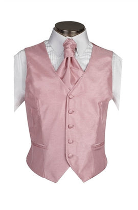 Dusky Pink Poly Dupion Waistcoat  ( Loose Fit) - Her Tuxedo