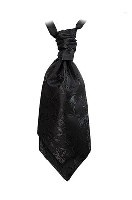 Black Onyx Opulent Damask Cravat