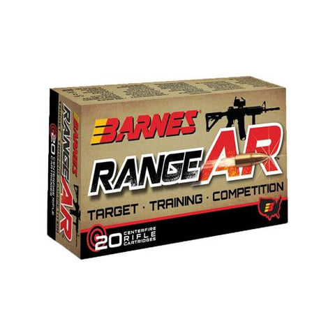 RangeAR Ammunition - 5.56mm, 52 Grain, Open-Tip Match, Per 20