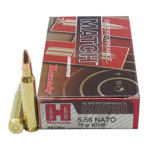 5.56 NATO - 75gr BTHP Superformance-Match -20