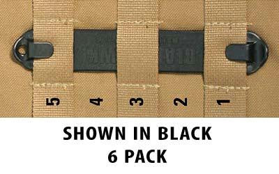 "Bh Speedclip 6 Pack- #5 5"" Black"