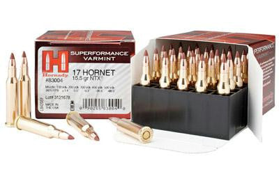 Hornady 17hornet 15.5 Grain Weight NTX Superperformance - Box of 25