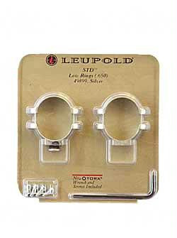 "Leup Std 1"" Rings Low Silver"