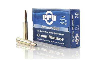 Ppu 8mm Mauser Sp 196 Grain Weight 20-500
