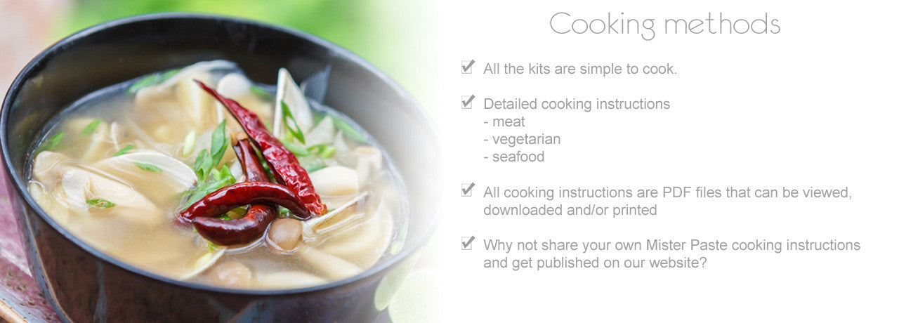 Read more about cooking methods and options