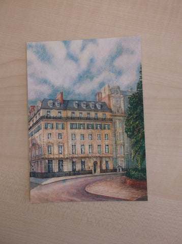 Postcard - Cavendish Sq sketch