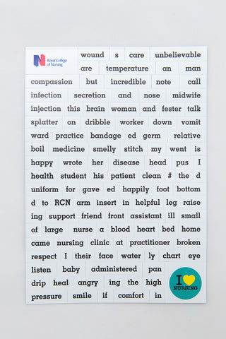Magnetic nursing word jumble