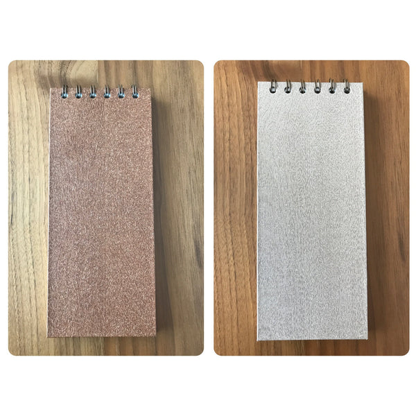 Cuaderno en papel simil madera - Black Sheep Handmade