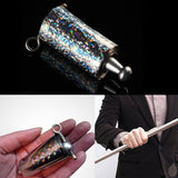 Magic Appearing Cane Metal Silver Magic Trick Close Up Illusion Silk