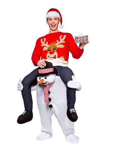 Apparel - Snowman Carry Me Ride On Stag Mascot Costume