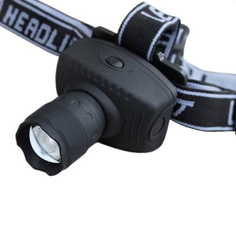 Camping - 600 Lumens LED Zoomable Headlight