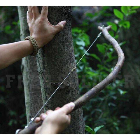 Camping - Outdoor Silver Steel Wire Saw Survival Tool
