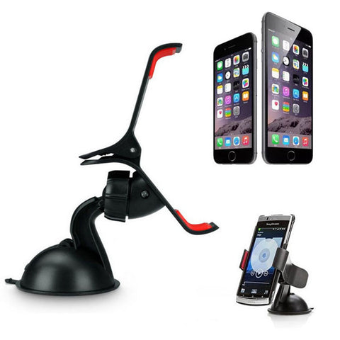 Car Accessories - Car Windshield Mount Mobile Phone Holder For All Smartphones & GPS