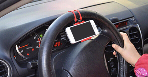 Car Accessories - Universal Car Steering Wheel Mobile Phone Holder