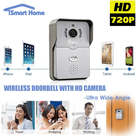 Tech - EDoorbell 3.0™ - 720P WiFi Doorbell Camera W/ Night Vision & Motion Detection