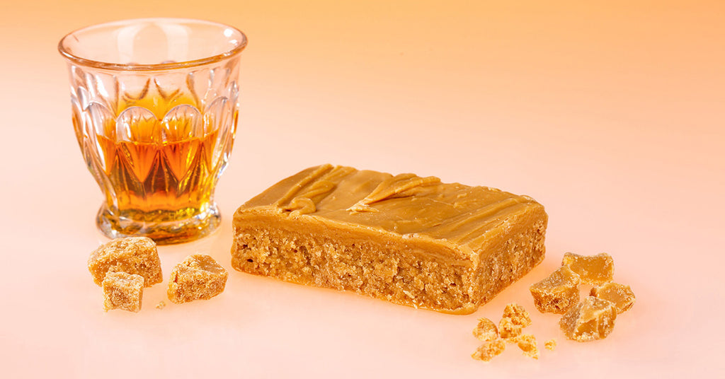 Deanston Malt Whisky in a Glass with Ochil Fudge Deanston Malt Fudge