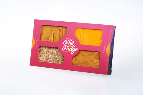 Ochil Fudge Pantry Pink 4 square Homemade Fudge Gift Box