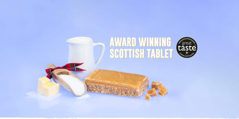 Award Winning Scottish Tablet Surrounded By Butter and Sugar.