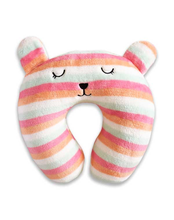 Cute Face Neck Pillow - Candy