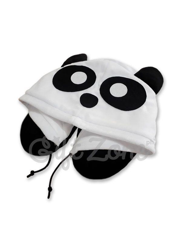 Panda Hoodie Travel Neck Pillow