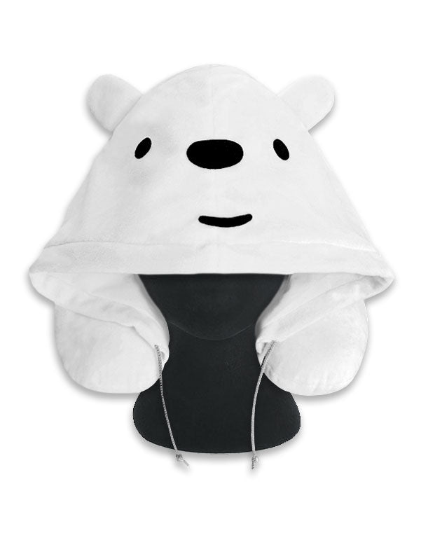 Polar Bear Hoodie Travel Neck Pillow
