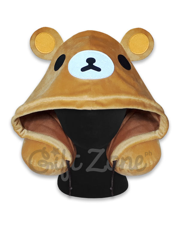 Rilakkuma Hoodie Travel Neck Pillow