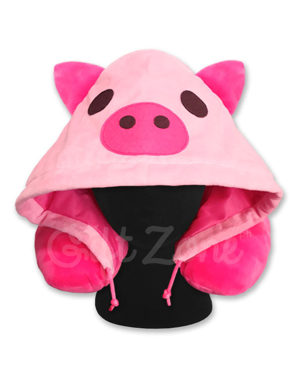 Pig Hoodie Travel Neck Pillow