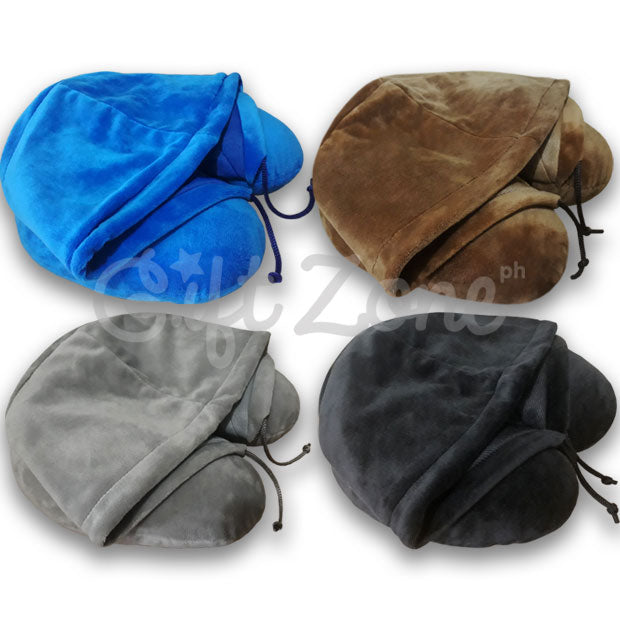 Neck Pillow with Hood - Plain Color