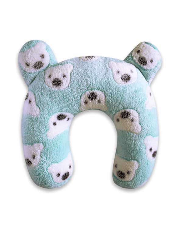 Polar Bear Neck Pillow - Baby Blue