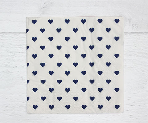 Blue Heart Serviette