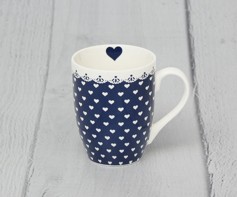 Blue Heart Kaffeebecher