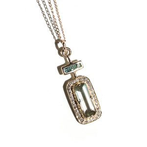 LE PARFUM N°1 - Pendentif en or 14 carats Tourmalines & Diamants blancs