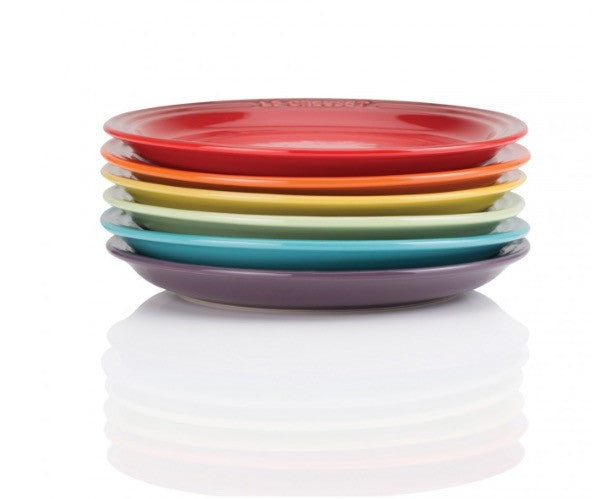Le Creuset Rainbow Tea Plates set of 6 - 阿太雜貨 (英國,香港集運)