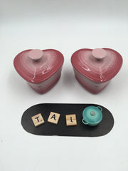 Le Creuset Set of 2 Heart Shaped Ramekin with Lid - 阿太雜貨 (英國,香港集運) - 1