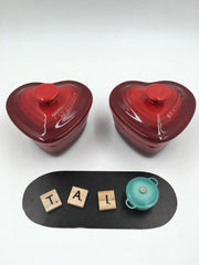Le Creuset Set of 2 Heart Shaped Ramekin with Lid - 阿太雜貨 (英國,香港集運) - 2
